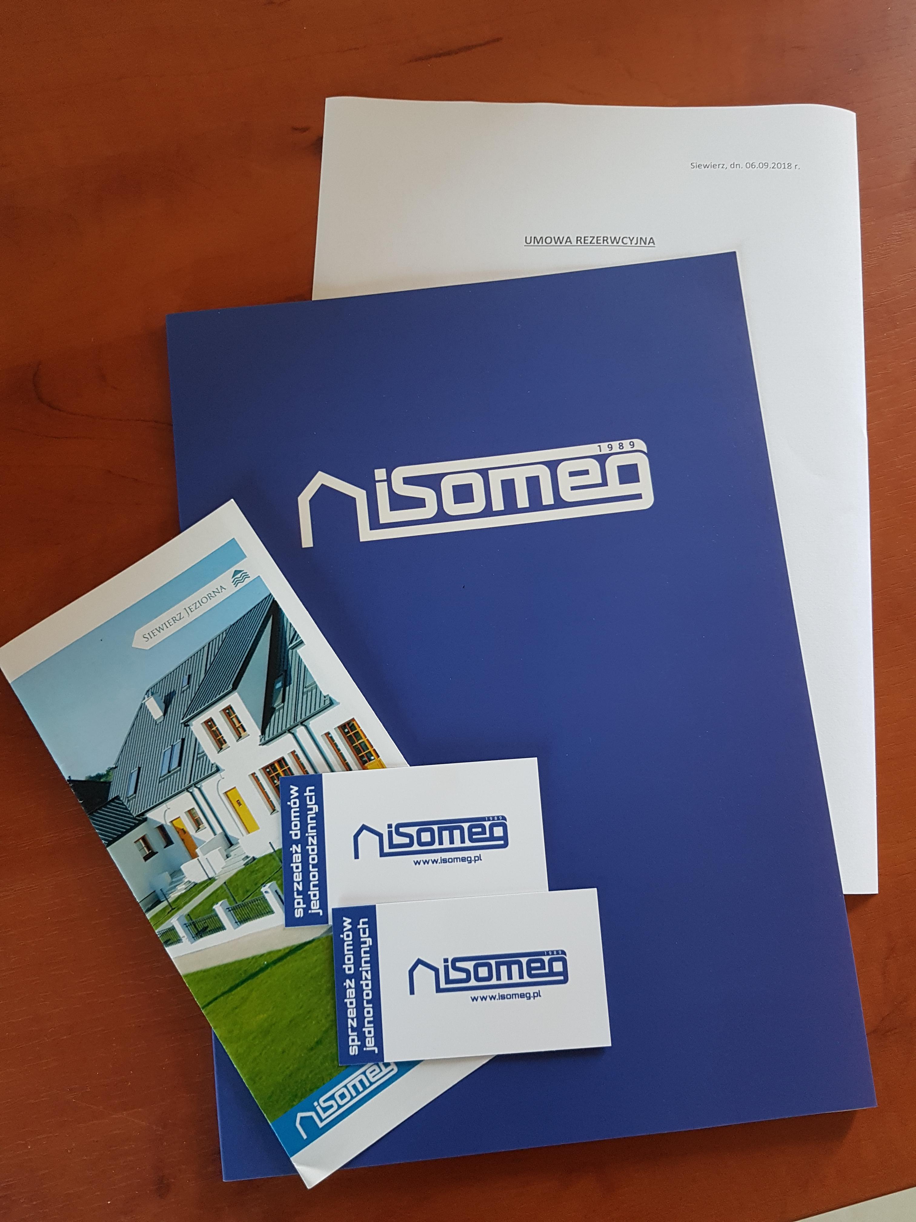 Umowa rezerwacyjna zakupu nieruchomości od firmy ISOMEG na terenie osiedla Siewierz Jeziorna.