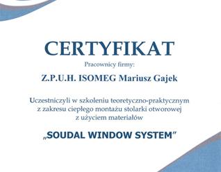 ciepły montaż certyfikat